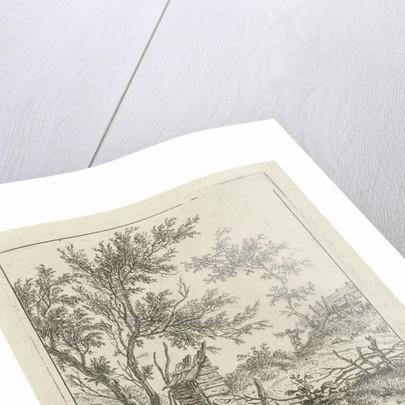 Landscape with L'homme qui achète le bois by Hermanus Fock