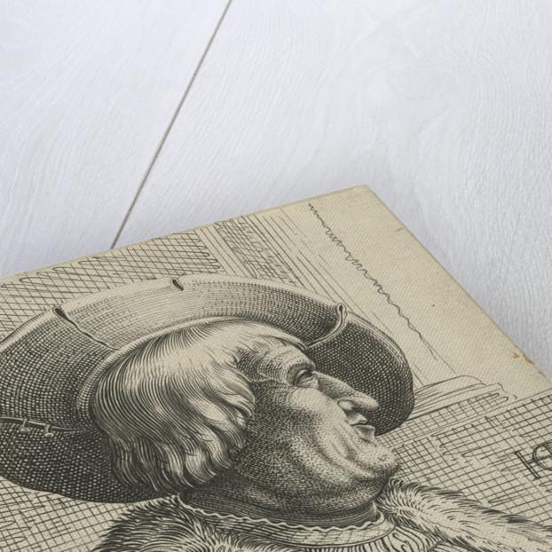 Portrait of a man with a hat by Claes Jansz. Visscher II