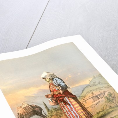 Armenian peasant woman, Travels through Turkey 1862 by Henry J. Van Lennep