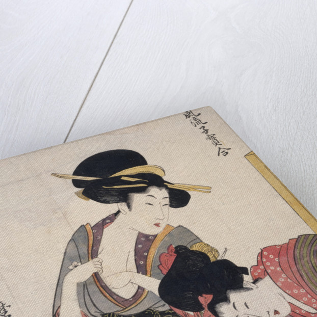 Chichi, About to breastfeed by Utamaro Kitagawa