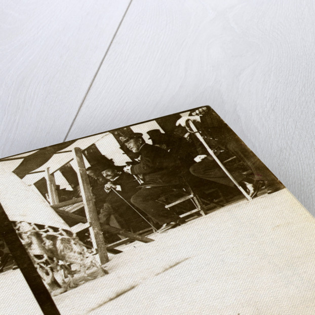 Admiral Togo seated in a tent with government officials by Anonymous