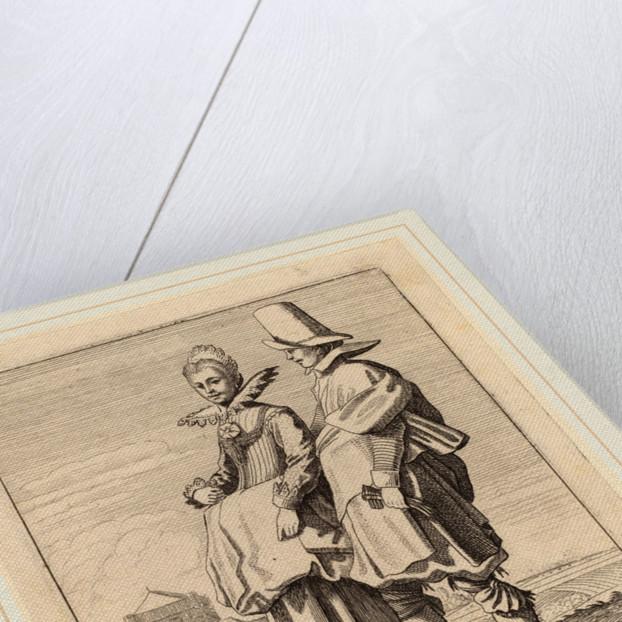 Two Figures in Costume by Jan van de Velde II