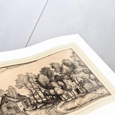 Landscape with Hewed Trees by Claes Jansz Visscher