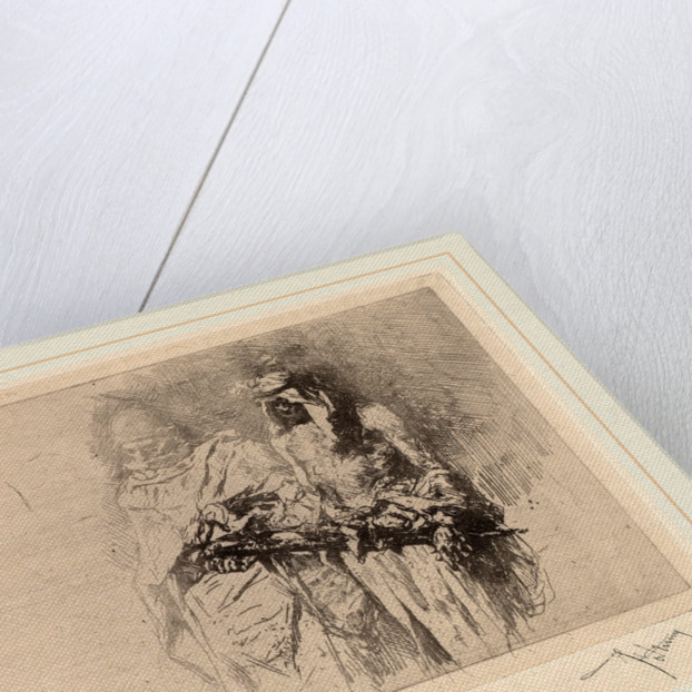 Two Arabian Figures: a Sketch by Mariano Fortuny y Carbó