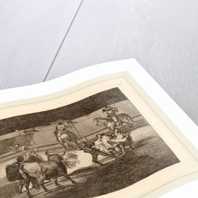 Banderillas de fuego by Francisco de Goya