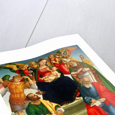 Madonna and Child with Saints and Angels by Luca Signorelli