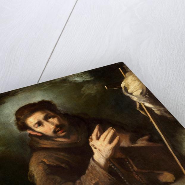 Italian, Saint Francis in Prayer by Bernardo Strozzi