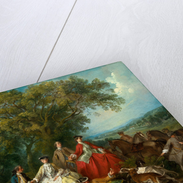 Picnic after the Hunt, probably c. 1735-1740 by Nicolas Lancret