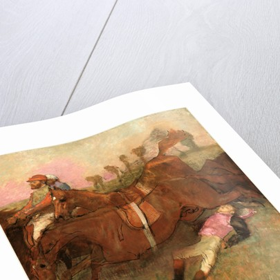 Scene from the Steeplechase: The Fallen Jockey, 1866, reworked 1880-1881 and c. 1897 by Edgar Degas