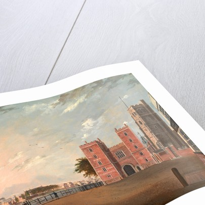 Lambeth Palace from the West, London by Daniel Turner