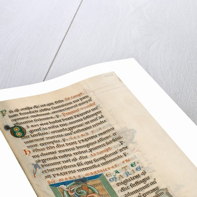 Decorated Initial B by Anonymous