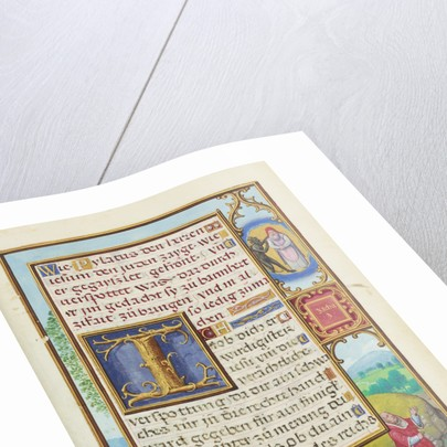 Border with Zechariah's Vision of the High Priest and the Devil by Simon Bening