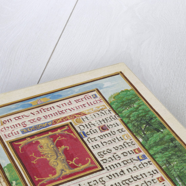 Border with Christ in the Wilderness by Simon Bening