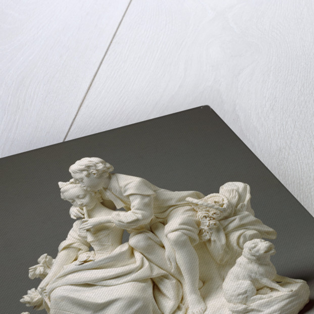 Figure Group: The Flute Lesson (Le Flûteur) (one of a pair) by Sèvres Manufactory