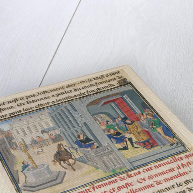 Fromont de Lens Receiving News of the Devastation of his Land by Loyset Liédet