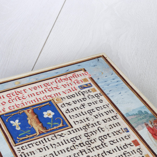 Border with the Creation of Birds and Fishes by Simon Bening
