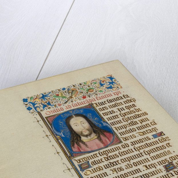 Initial S: The Face of Christ by Workshop of Master of Jean Chevrot