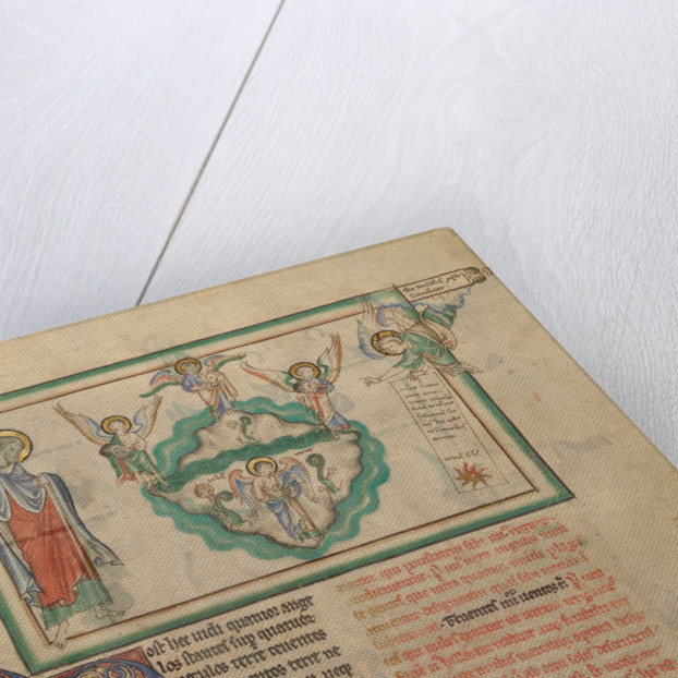 Angels Holding the Four Winds and an Angel Signifying Christ by Anonymous