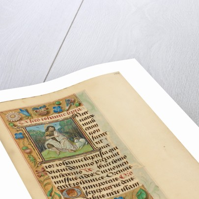 Initial I: Saint John the Baptist in the Wilderness by Master of the Dresden Prayer Book