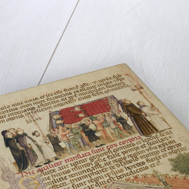 The Translation of the Bodies of Aimo and Vermondo, The People of Milan Praying at the Altar Where Aimo and Vermondo are Buried by Anovelo da Imbonate