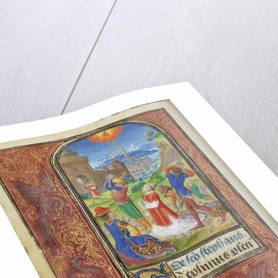 The Stoning of Saint Stephen by Lieven van Lathem