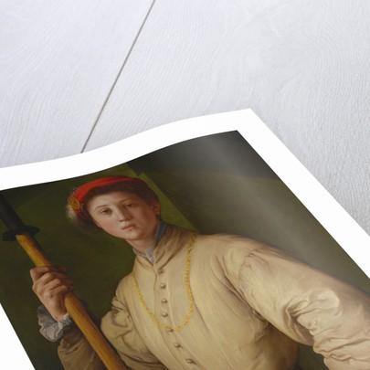 Portrait of a Halberdier (Francesco Guardi?) by Pontormo