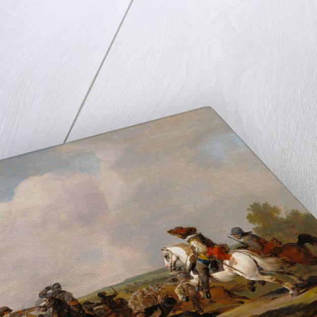 Battle Scene by Johannes Lingelbach