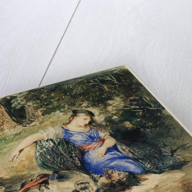 The Death of Lara by Eugène Delacroix