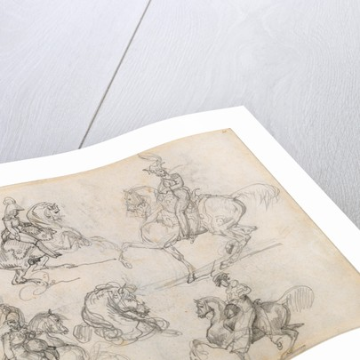 Horses and Riders (recto), Horses (verso) by Théodore Géricault