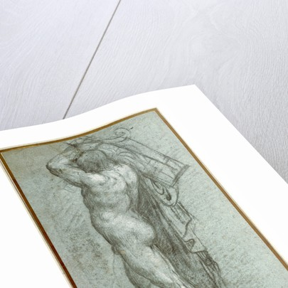 Nude Man Carrying a Rudder on His Shoulder by Titian