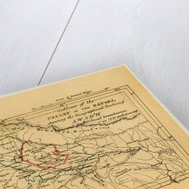 Map valley of the Ganges India, Outline of the Topography and Statistics of the Southern Districts of Oud'h, and of the cantonment of Sultanpur-Oud'h by Anonymous