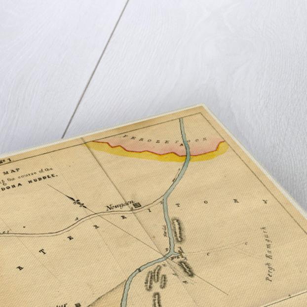 Map Landoha Nuddee, of 1833 by Anonymous