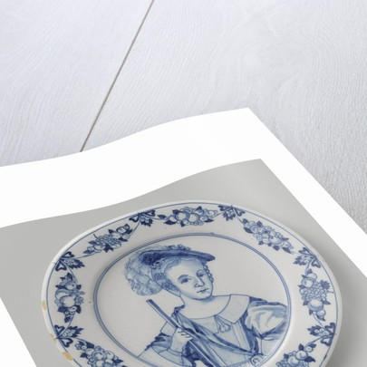 Dish with a Portrait of Prince William III as a Child by Anonymous