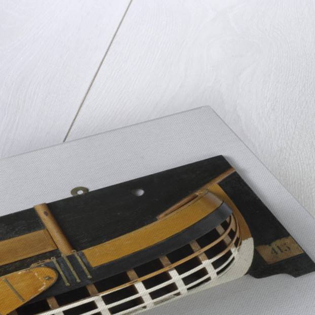 Half Model of a fork gunboat by Anonymous