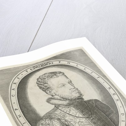 Portrait of Charles V of Habsburg, Frans Huys by Hieronymus Cock