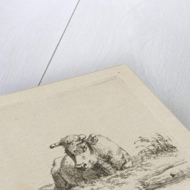 Lying cow by Pieter Gerardus van Os