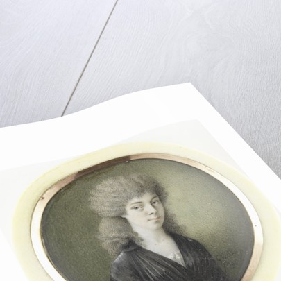 Portrait of a woman by Gijsbertus Johannus van den Berg