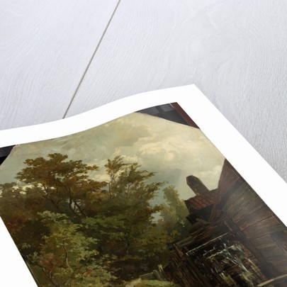 Jacob van Ruisdael Sketching a Watermill by Albert Gerard Bilders