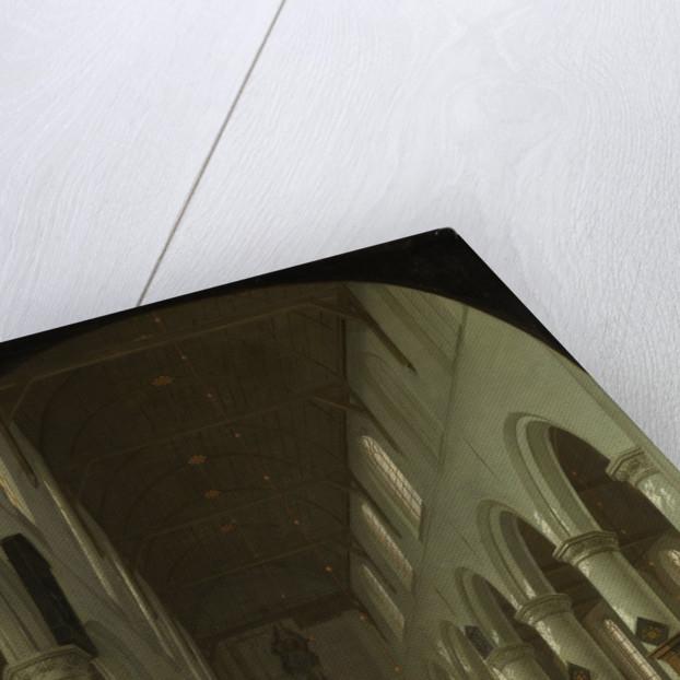 Interior of the Oude Kerk in Delft from the Choir toward the Portal by Cornelis de Man