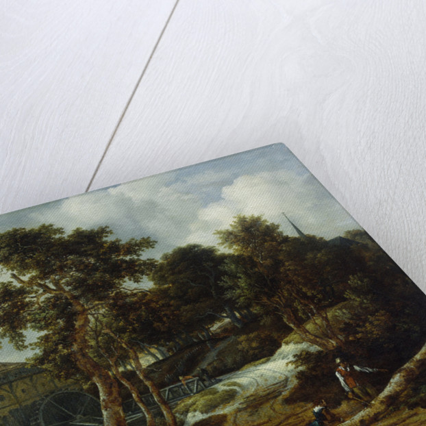 Landscape with watermill by Jacob Isaacksz. van Ruisdael