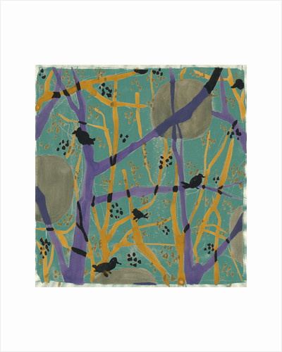 Trees and birds in my garden 1 by Anna Zaliski
