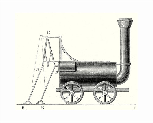 Brunton's Locomotive with Crutches by Anonymous