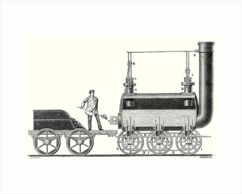 Stephenson's Endless Chain Locomotive by Anonymous