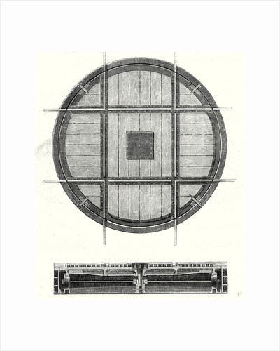 Nineteenth Century Railway Features: Rectangular Turning Plate and a Cross Section of This Plate by Anonymous