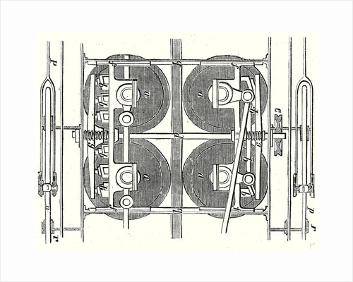 The Horizontal Wheels and the Central Rail of the Locomotive of the Mont Cenis Railway by Anonymous