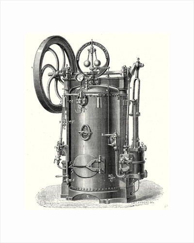 Portable Steam Engine or Hermann-Lachapelle's Industrial Traction Engine by Anonymous