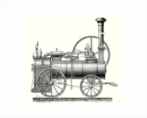 M. Calla's Traction Engine by Anonymous