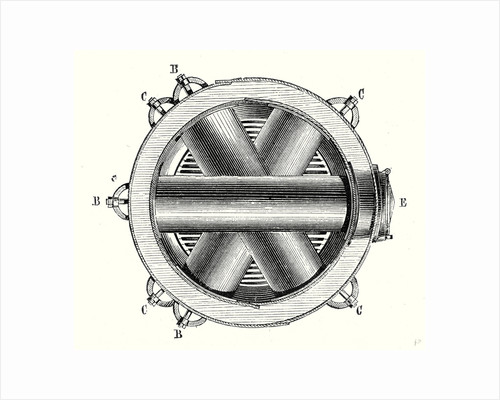 Horizontal Cross Section of M. Hermann-Lachapelle's Crossed Boiler Reboiler by Anonymous