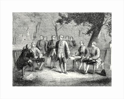 The Scientific Cenacle at Castle Clairac: Montesquieu and the Baron of Secondat His Son the Knight of Vivens Romas and the Brothers Dutilh by Anonymous