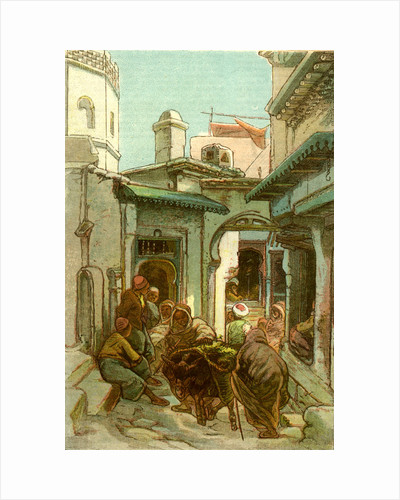 A Street in the Casbah Algiers 1885 by Anonymous
